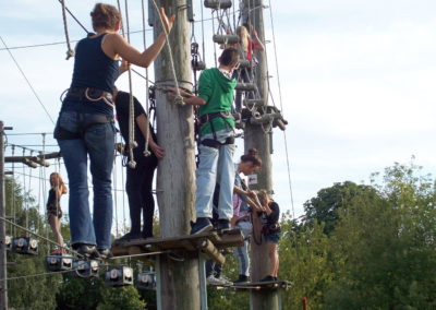 Die Kiez Kids im Kletterpark