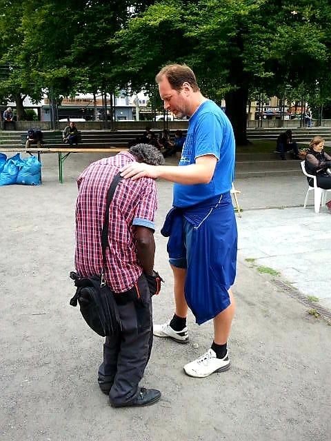 Gespräche auf der Straße